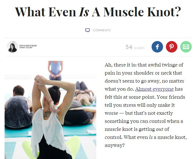 What Even Is A Muscle Knot